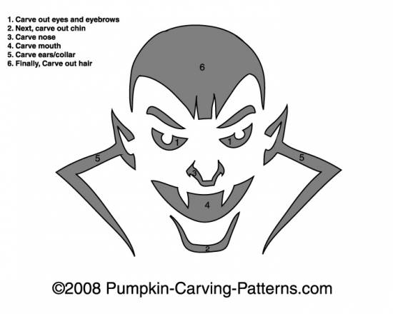 Count Dracula Pumpkin Carving Pattern