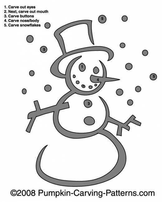 Frosty the Snowman Pumpkin Carving Pattern