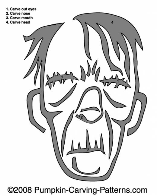 Gary the Ghoul Pumpkin Carving Pattern